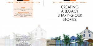 Burlington Museum Foundation brochure outside spread