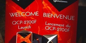 Qualcomm Bell Mobility Dealer product launch event invitations sand signage