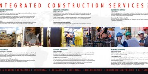 TESC Construction marketing brochure inside spread