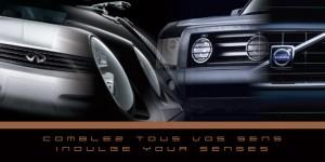 Jaguar, Volvo, Land Rover, Infiniti auto show invitations