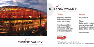 Spring Valley Architectural Innovations direct mail campaign with photo of AGO project.