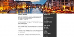 Bill Davidson travel writer website with beautiful night photo of Venice