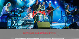 Climax Blues Band website with photo of band performing live in 2016