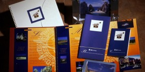 AT&T Mexico incentive travel recognition award communications including copy, design and production of 30-page agenda brochures, ticket wallets, baggage tags and mailers