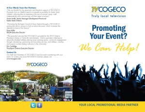 TV Cogeco marketing brochure
