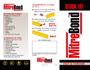 MitreBond marketing brochure outside