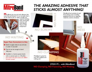 MitreBond adhesive marketing brochure inside