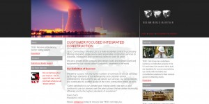 TESC Construction website design & hosting..