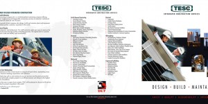 TESC Construction marketing brochure outside spread