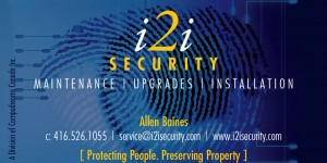 i2i security business card with eye thumb print design.