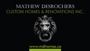 MD Homes brand identity.