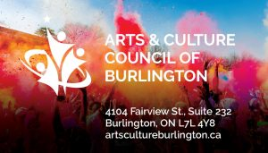 Arts and Culture Council of Burlington brand identity with a festival of colours