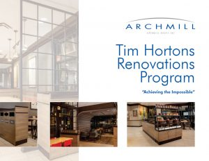 Archmill Tim Hortons brochure