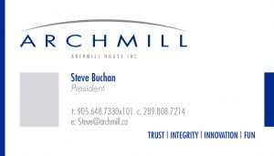 Archmill House brand identity.