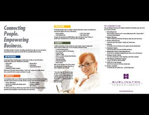 Burlington Chamber of Commerce sales folder.