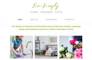 Live Simply clean, organize, style homes in Burlington, Ontario.