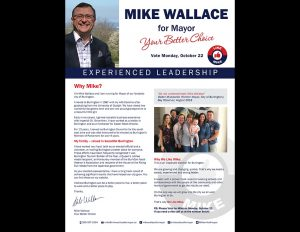 Wallace for Mayor direct mail.