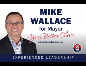 Mike Wallace for Mayor banner.