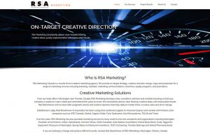 RSA Marketing website