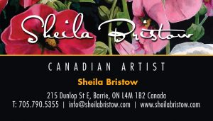 Sheila Bristow business card