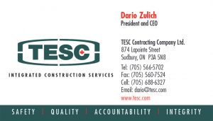 TESC Integrated Construction Services brand identity.