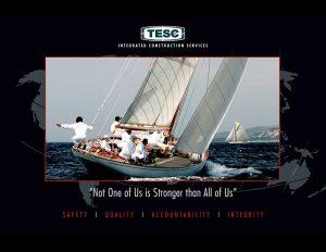 TESC motivational poster.
