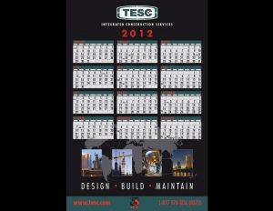 TESC wall calendar.