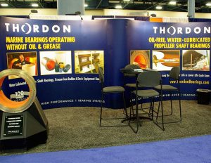 Thordon tradeshow booth.
