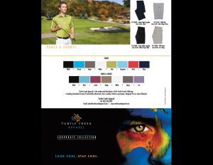 Turtle Creek Apparel flyer.