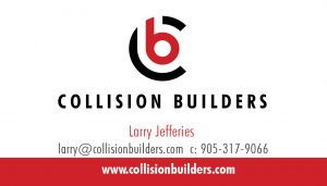 Collision Builders business card