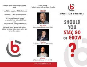 Collision Builders Brochure outside.