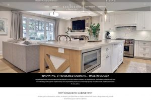 Exquisite Cabinetry custom design, manufacture and install Euro-style modern cabinets in Canada